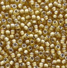 Toho 11/0 Seed Beads, Topaz Light Grey Lined 375 - 10 grams